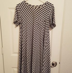Classic Black & White Houndstooth Dress